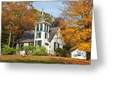 Autumn Church Greeting Card