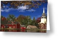 Autumn Church Row Greeting Card