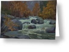 Autumn Color Blewitt Pass Greeting Card