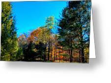 Autumn Color On Maple Ridge Greeting Card