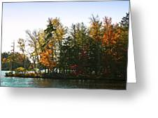 Autumn Color On The Fulton Chain Of Lakes Greeting Card
