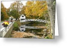 Autumn Colors At Somesville Bridge Mount Desert Island Maine Greeting Card
