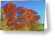Autumn Colors I Digital Paint Greeting Card