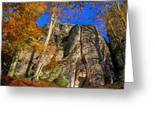 Autumn Colors In The Saxon Switzerland Greeting Card