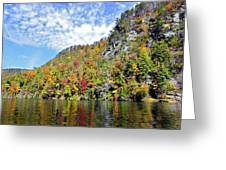 Autumn Colors On A Lake Greeting Card