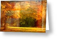 Autumn Colors Painterly Greeting Card by Lutz Baar