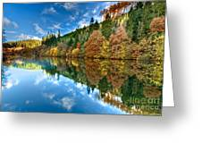 Autumn Colour Staindale Lake Greeting Card