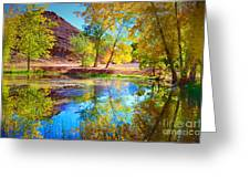 Autumn Colours In Moab Greeting Card