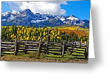 Autumn Corral Greeting Card