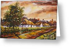 Autumn Cottages Greeting Card