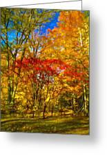 Autumn Cul-de-sac - Paint Greeting Card