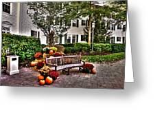 Autumn Display At The Sagamore Resort Greeting Card