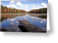 Autumn Dock Greeting Card
