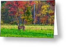 Autumn Doe - Paint Greeting Card