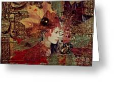 Autumn Dryad Collage Greeting Card