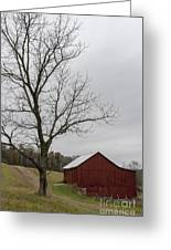 Autumn Dusk On The Farm Greeting Card