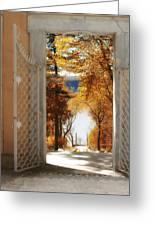 Autumn Entrance Greeting Card