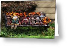 Autumn - Family Reunion Greeting Card by Mike Savad