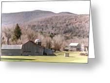 Autumn Farm In Catskills Greeting Card