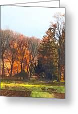 Autumn Farm With Harrow Greeting Card