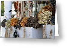 Autumn Flower Box Greeting Card