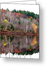 Autumn Foliage River Reflection Greeting Card