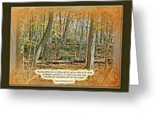 Autumn Forest - George Washington Carver Quote Greeting Card
