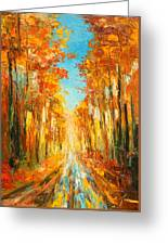 Autumn Forest Impression Greeting Card