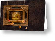 Autumn Frame Greeting Card by Amanda Elwell