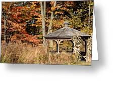 Autumn Gazebo Greeting Card