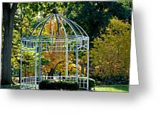 Autumn Gazebo Greeting Card