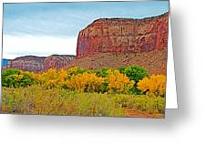 Autumn Gold On Highway 211 Going Into Needles District Of Canyonlands National Park-utah   Greeting Card