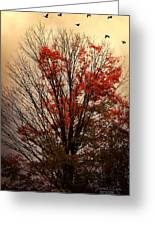Autumn Goodbyes Greeting Card