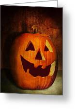 Autumn - Halloween - Jack-o-lantern  Greeting Card by Mike Savad