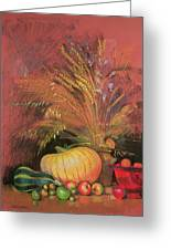 Autumn Harvest Greeting Card by Claire Spencer