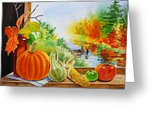 Autumn Harvest Fall Delight Greeting Card