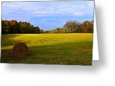 Autumn Hay 3 Greeting Card