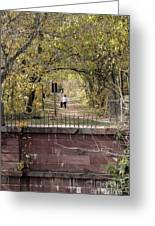 Autumn Hike On The C And O Canal Towpath At Seneca Creek Greeting Card
