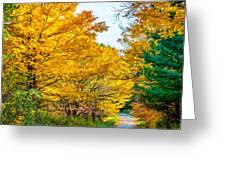 Autumn Hike - Paint Greeting Card
