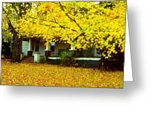 Autumn Homestead Greeting Card
