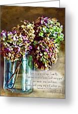 Autumn Hydrangeas Photoart With Verse Greeting Card