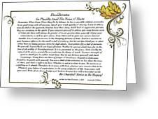 Autumn In Desiderata Greeting Card