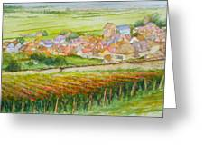 Autumn In Epernay In The Champagne Region Of France Greeting Card