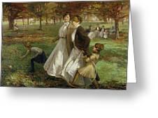 Autumn In Kensington Gardens Greeting Card