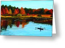 Autumn In Michigan Greeting Card