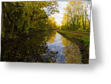Autumn In Morrisville Pa Along The Delaware Canal Greeting Card