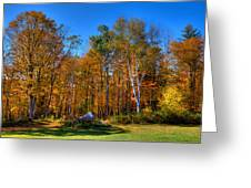 Autumn In North River New York Greeting Card