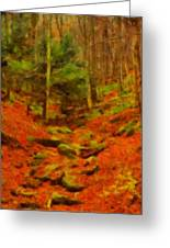 Autumn In Sproul State Forest Greeting Card
