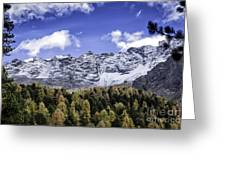 Autumn In The Alps Greeting Card