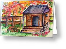 Autumn In The Backwoods Greeting Card